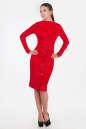 Офисное платье футляр красного цвета 2347.67 No1|интернет-магазин vvlen.com