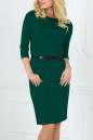 Офисное платье футляр темно-зеленого цвета No0|интернет-магазин vvlen.com