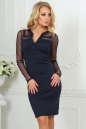 Повседневное платье футляр темно-синего цвета 2456.47 No0|интернет-магазин vvlen.com