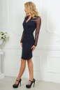 Повседневное платье футляр темно-синего цвета 2456.47 No2|интернет-магазин vvlen.com