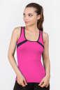 Майка для фитнеса черного с розовым цвета 2354.67|интернет-магазин vvlen.com
