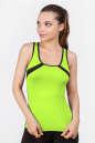 Майка для фитнеса черного с зеленым цвета 2354.67|интернет-магазин vvlen.com