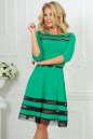 Коктейльное платье с расклешённой юбкой зеленого цвета 1487-1.47|интернет-магазин vvlen.com
