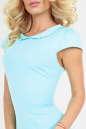 Летнее платье футляр голубого цвета 2022.2 No4|интернет-магазин vvlen.com