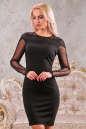 Коктейльное платье футляр черного цвета 2442.47 No0 интернет-магазин vvlen.com
