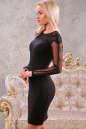 Коктейльное платье футляр черного цвета 2442.47 No1 интернет-магазин vvlen.com