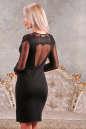 Коктейльное платье футляр черного цвета 2442.47 No2 интернет-магазин vvlen.com