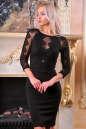Коктейльное платье футляр черного цвета No0|интернет-магазин vvlen.com