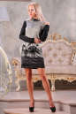 Офисное платье футляр серого цвета No1|интернет-магазин vvlen.com