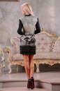 Офисное платье футляр серого цвета No2|интернет-магазин vvlen.com
