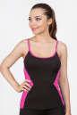 Майка для фитнеса черного с розовым цвета|интернет-магазин vvlen.com