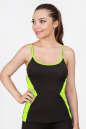 Майка для фитнеса черного с зеленым цвета 2357.67|интернет-магазин vvlen.com