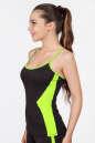 Майка для фитнеса черного с зеленым цвета No1|интернет-магазин vvlen.com
