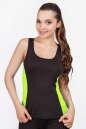 Майка для фитнеса черного с зеленым цвета 2358.67|интернет-магазин vvlen.com