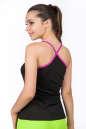 Майка для фитнеса черного с розовым цвета 2355.67 No1|интернет-магазин vvlen.com