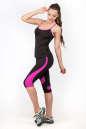 Майка для фитнеса черного с розовым цвета 2355.67 No4|интернет-магазин vvlen.com