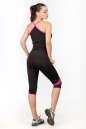 Майка для фитнеса черного с розовым цвета 2355.67 No5|интернет-магазин vvlen.com