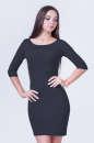 Повседневное платье футляр темно-серого цвета 2365.65 No0|интернет-магазин vvlen.com