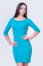Повседневное платье футляр бирюзового цвета 2365.65|интернет-магазин vvlen.com