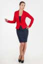Офисное платье футляр синего с красным цвета 2346.85 No1|интернет-магазин vvlen.com