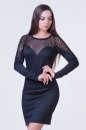 Коктейльное платье футляр черного цвета 2384.41 No0 интернет-магазин vvlen.com