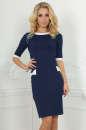 Офисное платье футляр темно-синего цвета No0|интернет-магазин vvlen.com