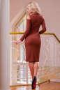 Повседневное платье футляр светло-коричневого цвета No3|интернет-магазин vvlen.com