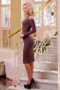Повседневное платье футляр коричневого цвета No2|интернет-магазин vvlen.com