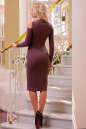 Повседневное платье футляр коричневого цвета No3|интернет-магазин vvlen.com