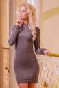 Повседневное платье футляр капучино цвета 2427.86 No0|интернет-магазин vvlen.com