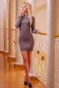Повседневное платье футляр капучино цвета 2427.86 No1|интернет-магазин vvlen.com