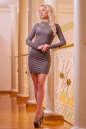 Повседневное платье футляр капучино цвета 2427.86 No2|интернет-магазин vvlen.com