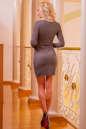 Повседневное платье футляр капучино цвета No3|интернет-магазин vvlen.com