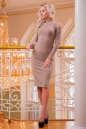 Повседневное платье футляр розового цвета 2431.31 No1|интернет-магазин vvlen.com