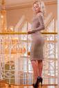 Повседневное платье футляр розового цвета 2431.31 No2|интернет-магазин vvlen.com