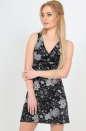 Летнее платье трапеция черного цвета 433.17|интернет-магазин vvlen.com