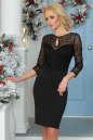 Коктейльное платье футляр черного цвета 2445.47|интернет-магазин vvlen.com
