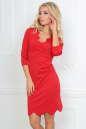 Повседневное платье футляр красного цвета 2489.47 No0|интернет-магазин vvlen.com