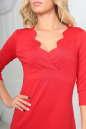 Повседневное платье футляр красного цвета No4|интернет-магазин vvlen.com