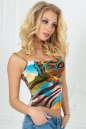 Майка женская голубого тона цвета 336.33 No0|интернет-магазин vvlen.com