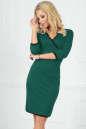 Повседневное платье футляр темно-зеленого цвета|интернет-магазин vvlen.com