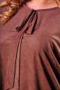 Туника оверсайз коричневого цвета 2450.86 No4 интернет-магазин vvlen.com