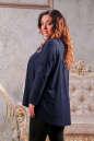 Туника оверсайз темно-синего цвета 2450.86 No2|интернет-магазин vvlen.com