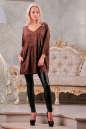 Туника оверсайз коричневого цвета |интернет-магазин vvlen.com