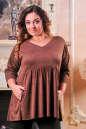 Туника оверсайз коричневого цвета 2451.86 No1|интернет-магазин vvlen.com