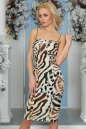 Коктейльное платье-комбинация молочного тона цвета 996-1.26 No1|интернет-магазин vvlen.com