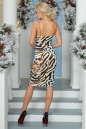 Коктейльное платье-комбинация молочного тона цвета 996-1.26 No2|интернет-магазин vvlen.com
