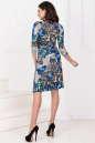 Повседневное платье с расклешённой юбкой синего тона цвета 1020.17 No2|интернет-магазин vvlen.com