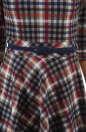 Повседневное платье с расклешённой юбкой синего с красным цвета 2281.41 No4|интернет-магазин vvlen.com