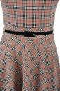 Повседневное платье с расклешённой юбкой бежевого цвета 2281.41 No4|интернет-магазин vvlen.com